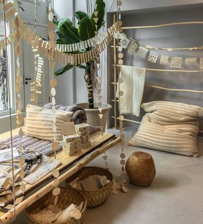 A peek inside Sukha Amsterdam, a whimsical store offering fair-trade finds, flowing fabrics, and a calming, neutral color palette.