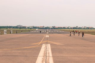 Covering over 800 acres, Berlin's Tempelhof Airport is larger than New York City's Central Park and is twice the size of Monaco. The airport was constructed by the Nazis from 1936 to 1941, however it reopened as an eclectic city park in 2010. The project received the Symbol of Engineering Architecture award in 2011.