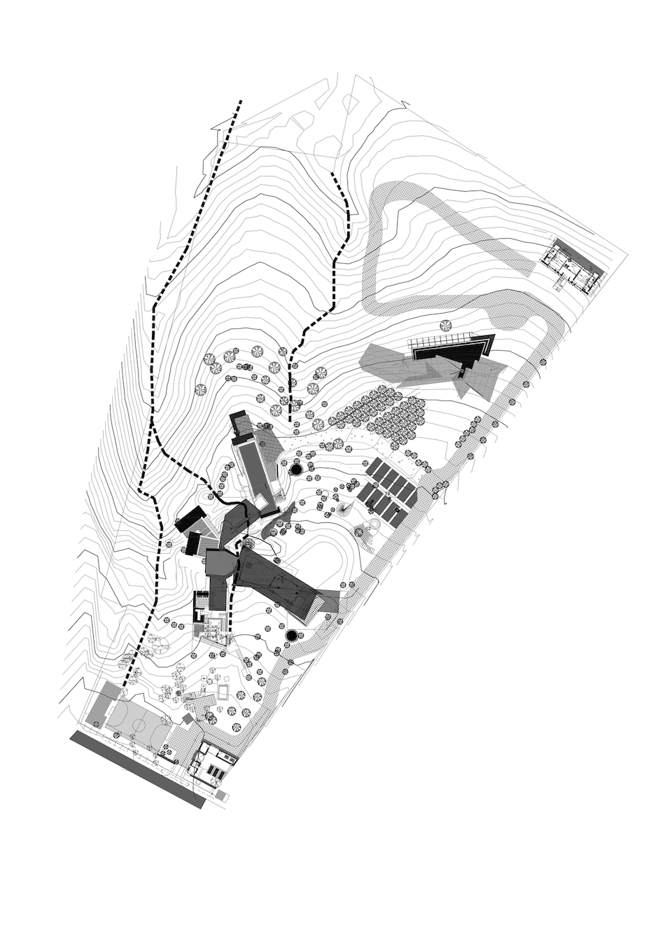 House of Three Streams site plan