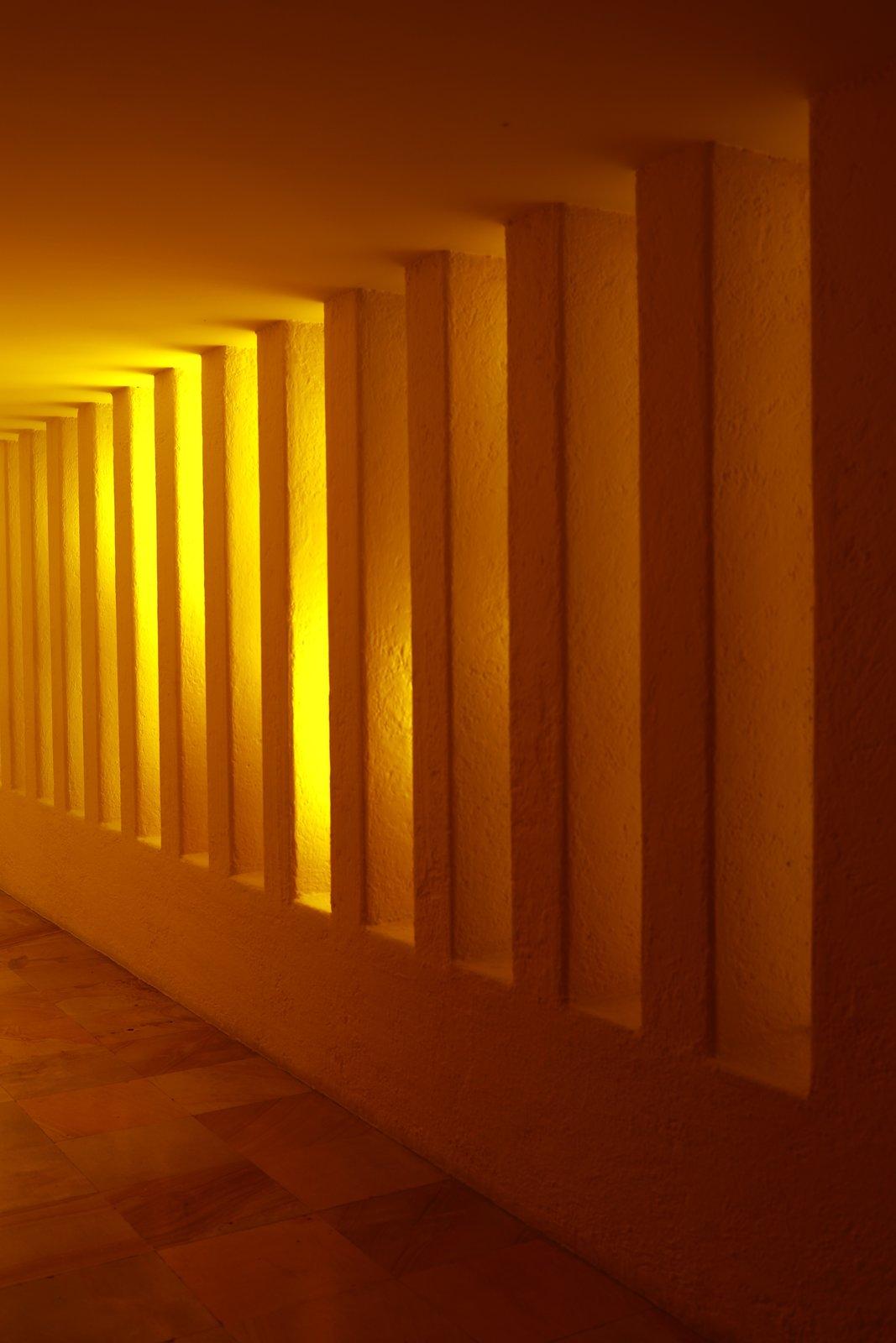 Casa Gilardi yellow hallway