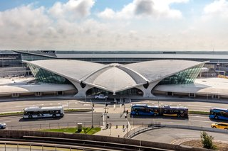 An aerial view of TWA Hotel.