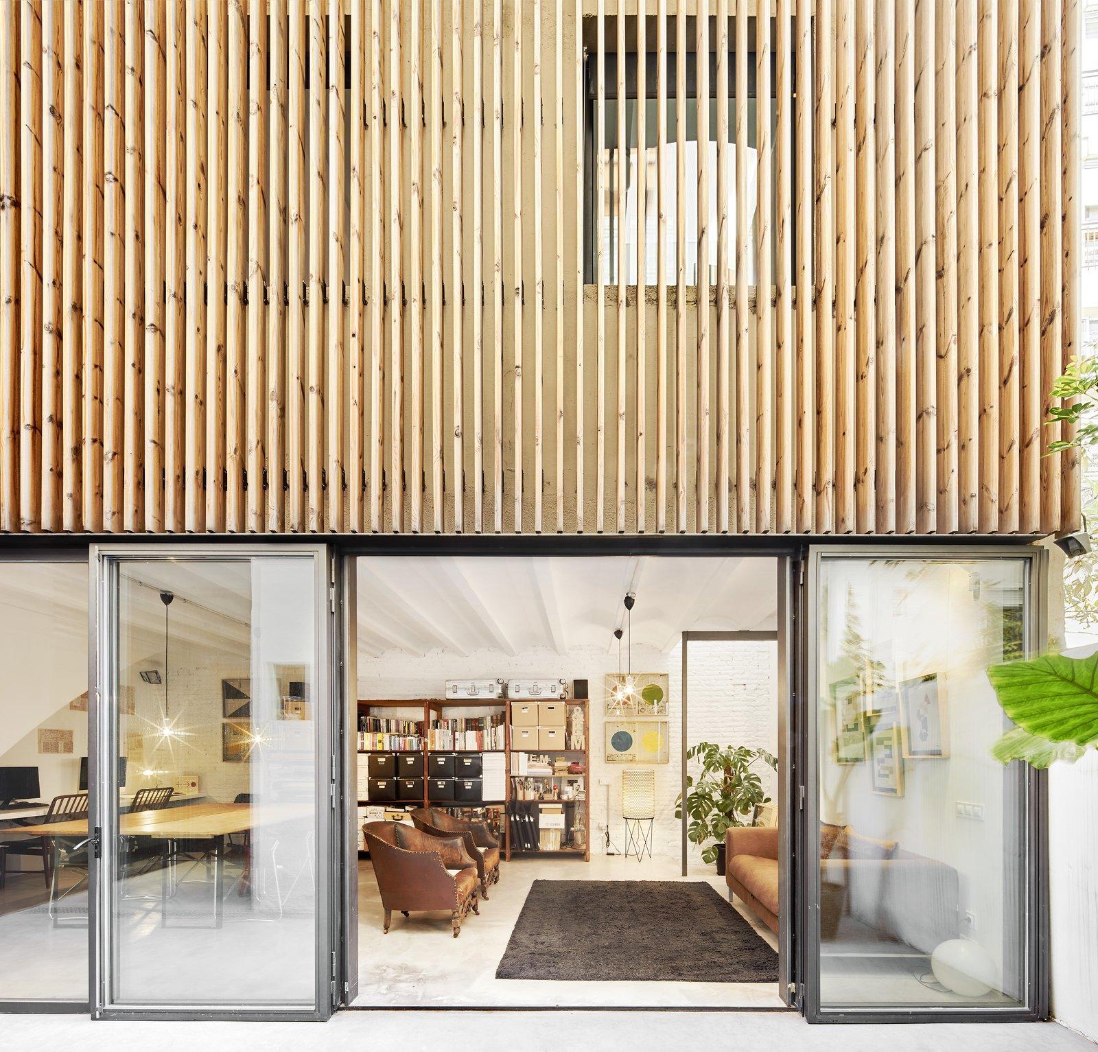 Up Garcia Home Studio workshop and folding glass doors