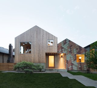 A New Vancouver Home Dazzles With a Facade That Looks Like Falling Confetti