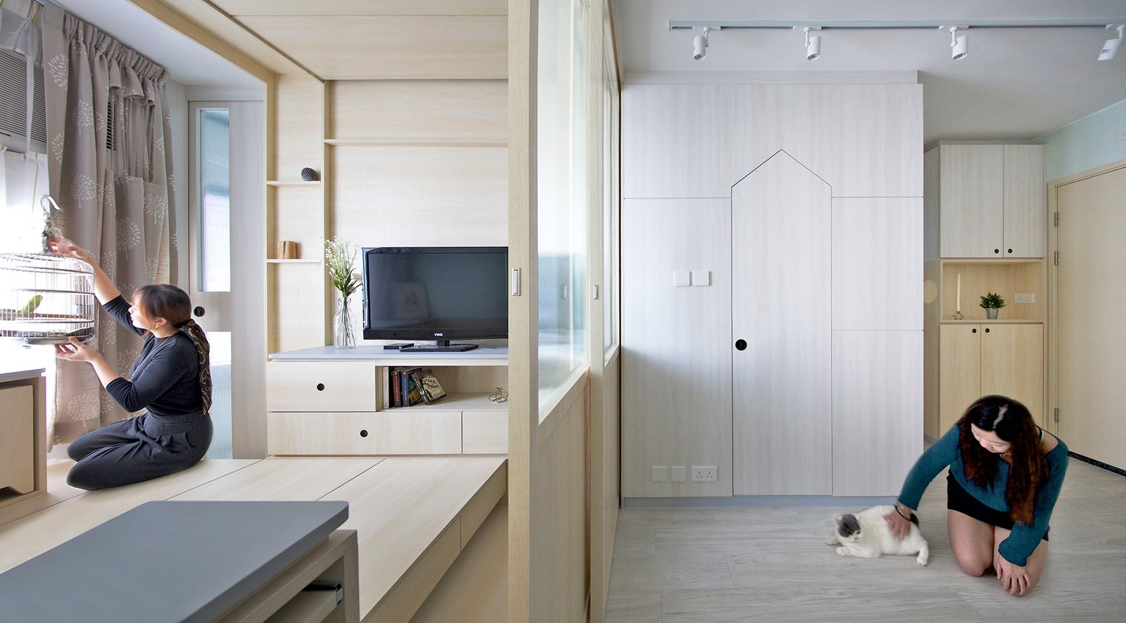 80e4b56922a This Tiny Transforming Apartment Is a Playground For Pets