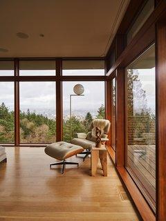 An Eames lounge