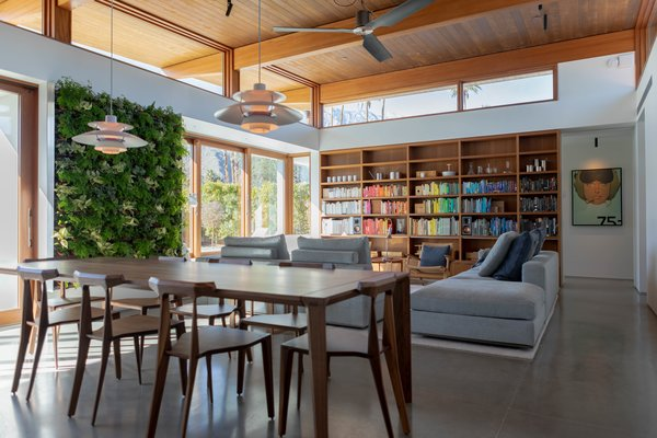 """""""This is a fairly smart home, so we can control the HVAC system, the lighting, and the security system all from our phones and keypads on the wall,"""" Meelena explains. """"We didn't want to go overboard, but there was a certain amount of technology that was integrated into the overall design."""""""