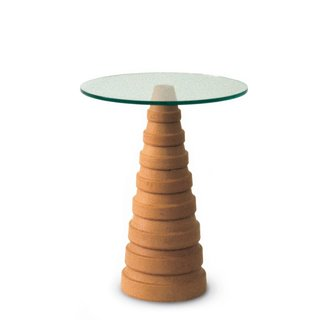 A striking example of Jasper Morrison's philosophy that there aren't necessarily new forms, just new ways to combine and recontextualize what's come before, Flower Pot Table was assembled in an almost ready-made fashion.