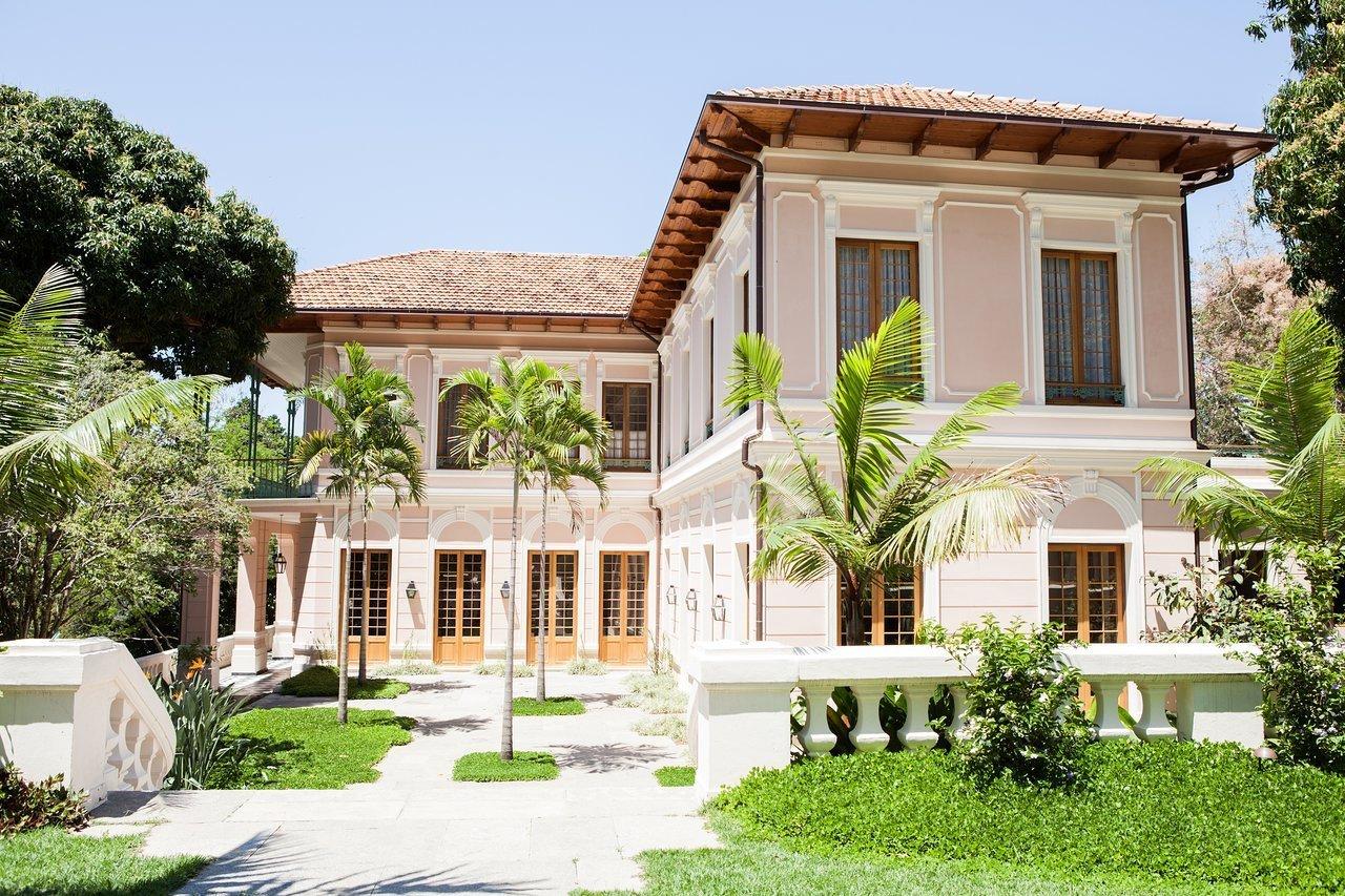 Exterior, Stucco Siding Material, House Building Type, Hipped RoofLine, and Tile Roof Material Casa Marques Jardim Botanico in Rio de Janeiro, Brazil  Casa Marques Jardim Botanico