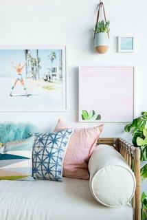 Lulu & Georgia's prints and home decor incorporate colorful charm and coastal motifs.