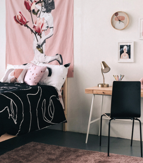 Society6 makes it possible to buy comforters, pillows, tapestries, and more with prints from your favorite artists.