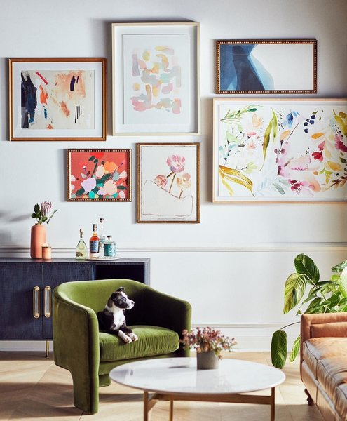 Anthropologie's tailored art selection is vibrant and glamorous.