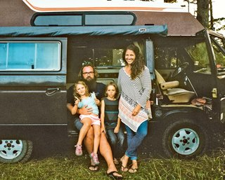 How a Family of Four Thrives in a 1985 Volkswagen Van