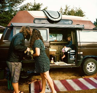 How a Family of Four Thrives in a 1985 Volkswagen Van - Photo 1 of 5 -