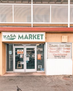 Kasa is a small Mexican market with a hidden taco shop in the back. It's one of our favorite stops for lunch, or picking up ingredients to make our own homemade salsa.