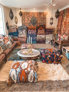 If you do decide to make the trip down the hill, our friend's shop Soukie Modern is one of our favorite spots to spend an afternoon. The owners Kenya and Taib will likely welcome you with a glass of rosé, and an authentic moroccan rug shopping experience.