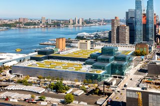 The Javits Center's impressive green roof is roughly the size of five football fields.