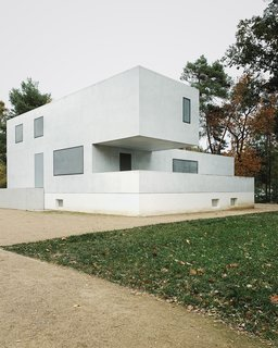 In Dessau, Walter Gropius designed three houses for professors of the Bauhaus School. Known as the Masters' Houses, they were destroyed during an air raid at the end of WWII. In 2014, Berlin–based Bruno Fioretti Marquez unveiled the New Masters' Houses, a historically faithful but contemporary interpretation of the original, cubic structures.