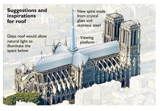British architect Norman Foster shared his ideas for Notre Dame with London's The Times.