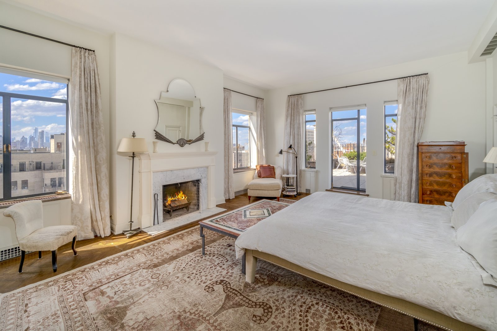 In total, the penthouse has four bedrooms, including a private master suite which sits on the building's top level. The apartment also consists of three bathrooms, as well as a powder room.  Photo 5 of 6 in Barbra Streisand's Former Central Park Penthouse Asks $11.25M