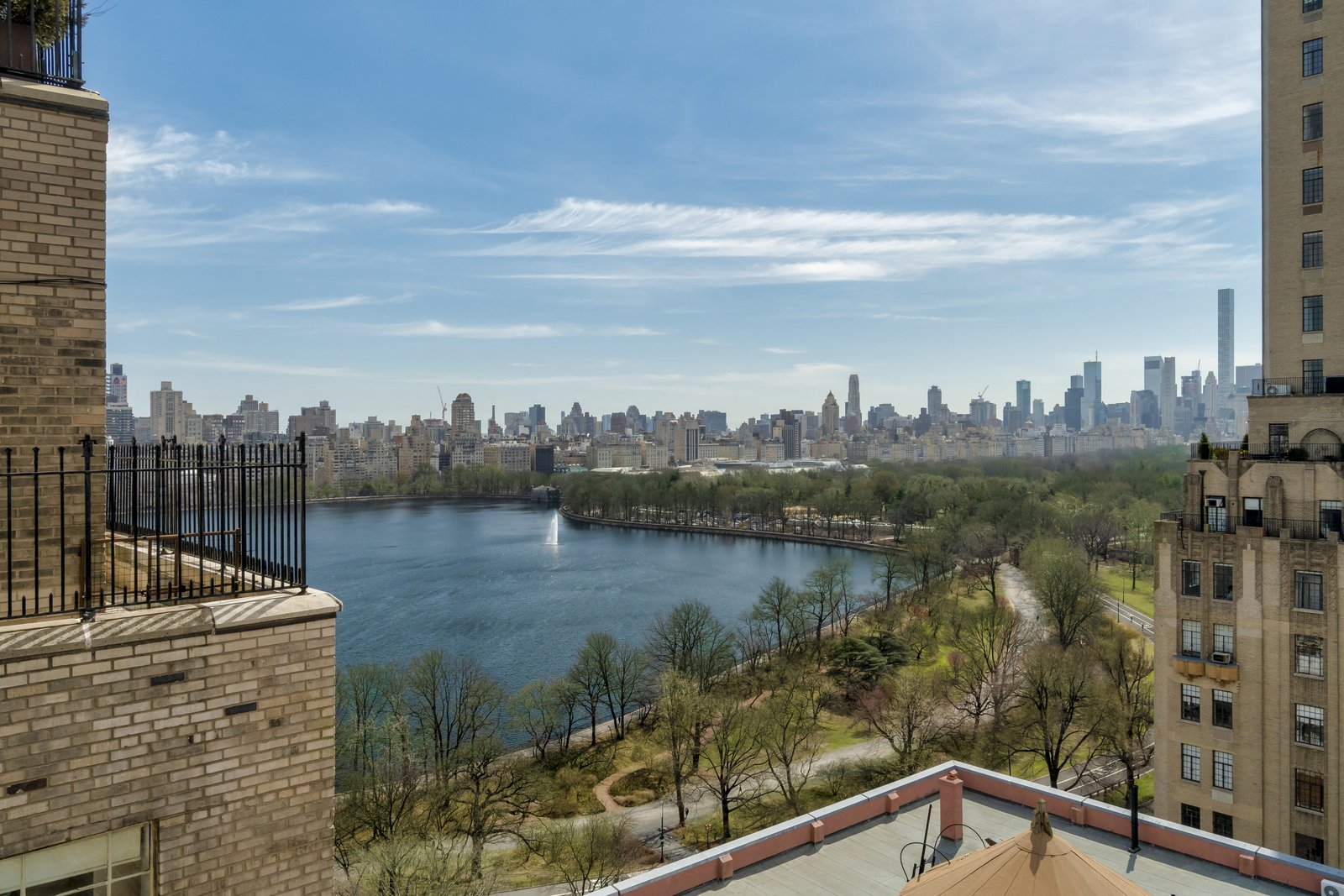 Featuring 2,500 square feet of terrace space, the home boasts jaw-dropping views of the city skyline and Central Park's Reservoir.  Photo 6 of 6 in Barbra Streisand's Former Central Park Penthouse Asks $11.25M