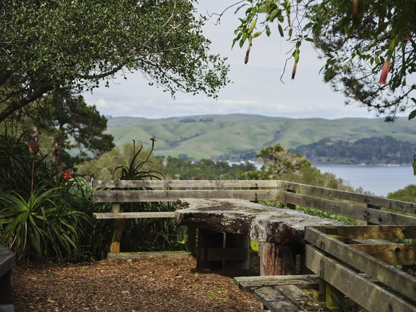 Framing spectacular views of Point Reyes National Seashore, Abbott's Lagoon, and Tomales Bay, this peaceful, five-acre estate is an ideal spot to reconnect with nature.