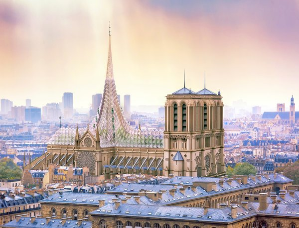 Callebaut predicts that a Notre Dame rooftop garden could produce 21 tons of fruit and vegetables each year.
