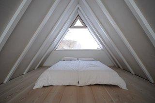 A peek at the light-filled sleeping loft.