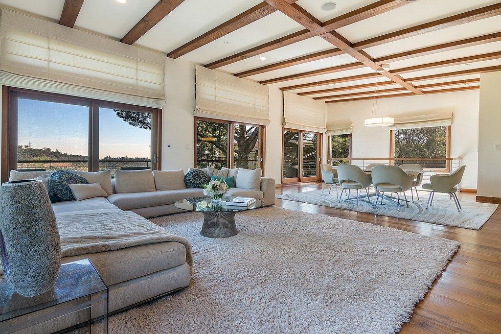 Kristin Davis Los Angeles Home living room