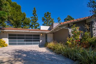 The 1970s home is located at the end of a quiet cul-de-sac in Mandeville Canyon.
