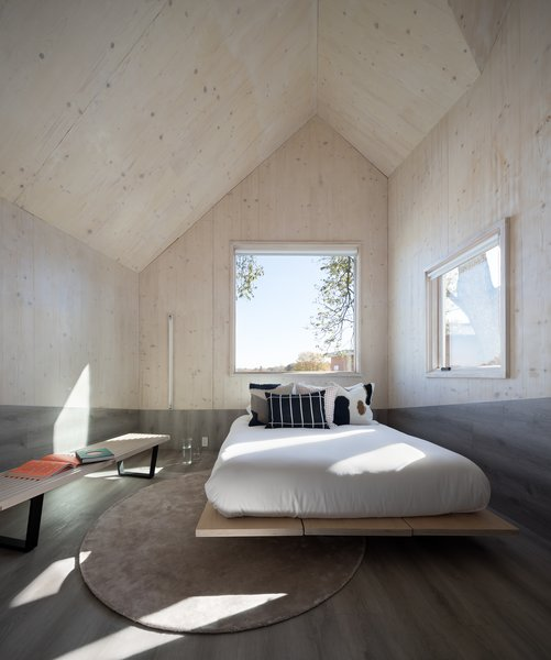 A Look At One Of The Spacious, Contemporary Bedrooms.