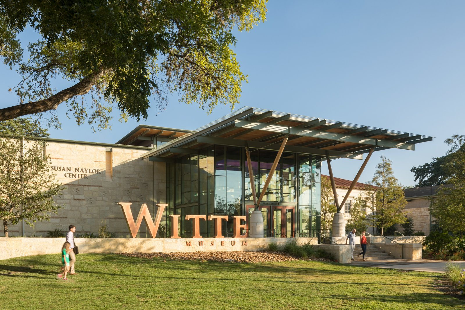 """Limestone, a sedimentary rock composed of ancient marine organisms, plays a large role in the work of South Texas–based firm Lake Flato Architects. At the new addition at Witte Museum in San Antonio, limestone """"imparts a great sense of civic presence and permanence,"""" says architect Steve Raike.  Photo 4 of 9 in RM-3 Episode Five: Clams"""