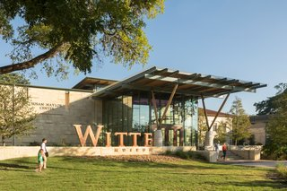 "Limestone, a sedimentary rock composed of ancient marine organisms, plays a large role in the work of South Texas–based firm Lake Flato Architects. At the new addition at Witte Museum in San Antonio, limestone ""imparts a great sense of civic presence and permanence,"" says architect Steve Raike."