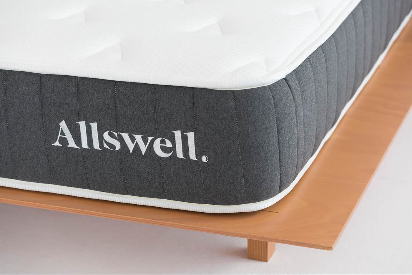 Allswell's signature Hybrid mattress is expertly crafted with CoolFlow foam technology to keep your mattress cool during warmer months, and is reinforced around the edges to prevent sinking in.  Photo 2 of 8 in 7 Best Affordable Mattress Companies That Will Take You to Cloud Nine