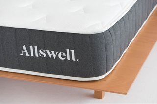 Allswell's signature Hybrid mattress is expertly crafted with CoolFlow foam technology to keep your mattress cool during warmer months, and is reinforced around the edges to prevent sinking in.