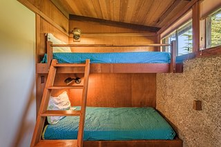 There are also two sets of bunk beds.
