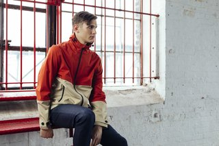 The Quinn Contrast Hooded Jacket by North & Mark ($250) is an eye-catching, colorblocked rain jacket that's available in three colorways.