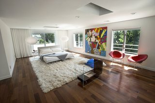 The owner's love for pop art and bold colors is reflected throughout the home.