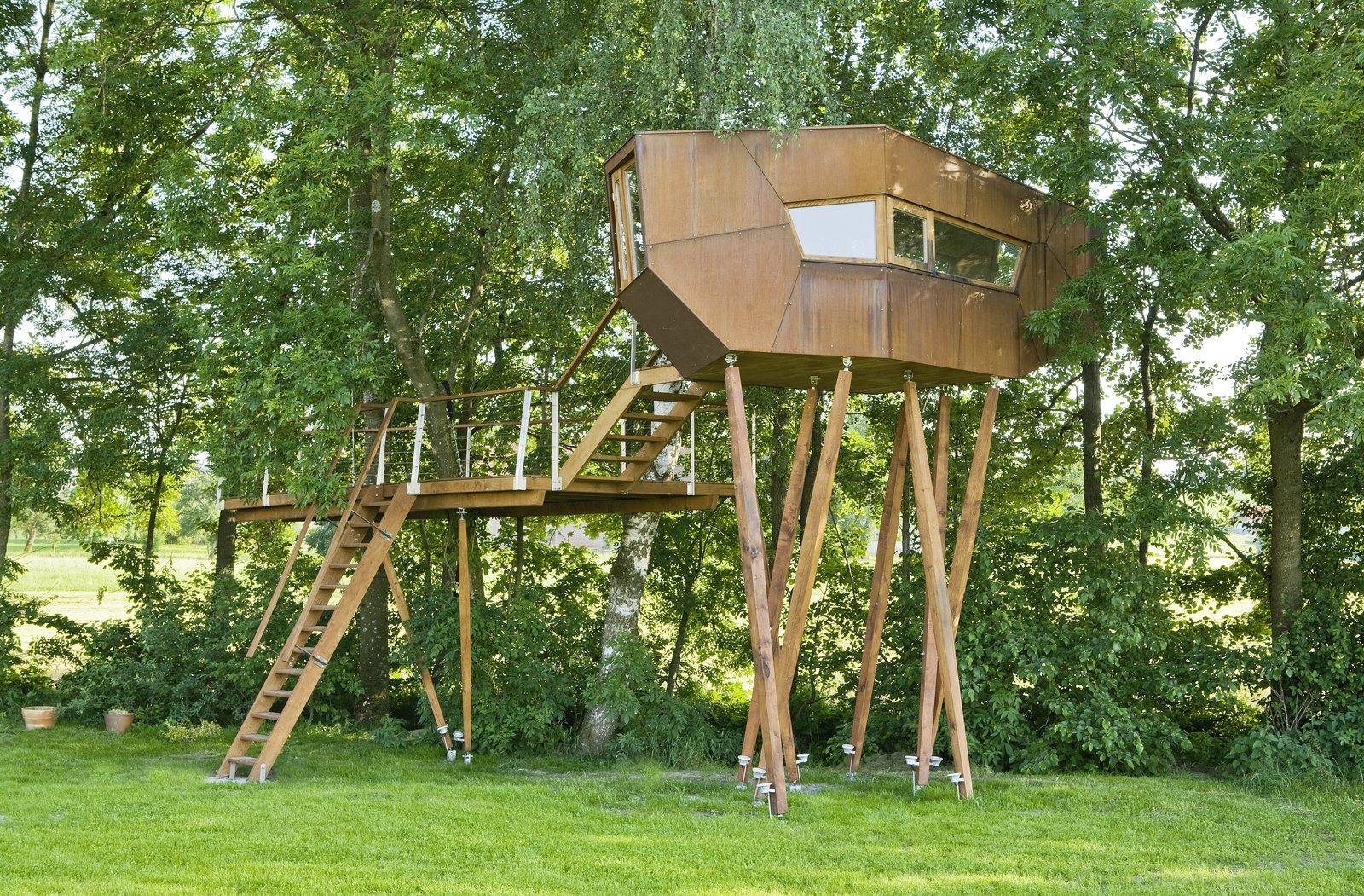 Auswahl Bachstelze Cor-Ten steel tree house