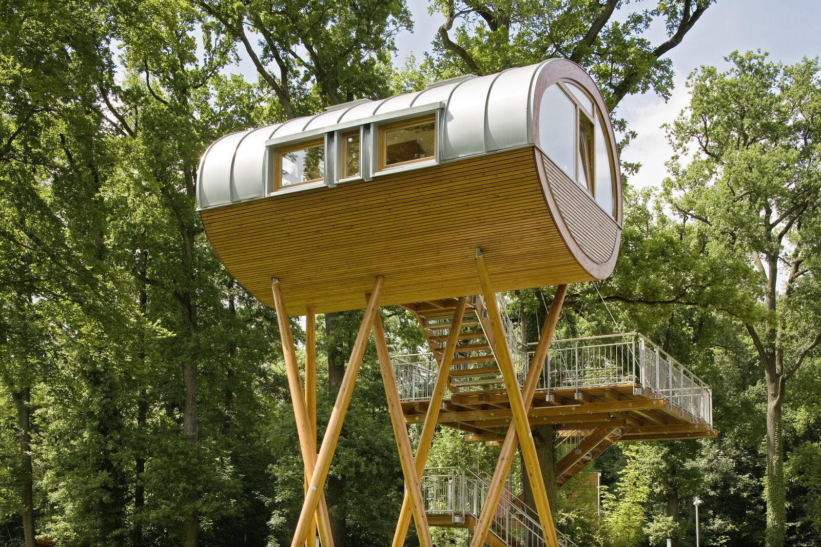 Prefab Tree Houses Baumraum Dwell