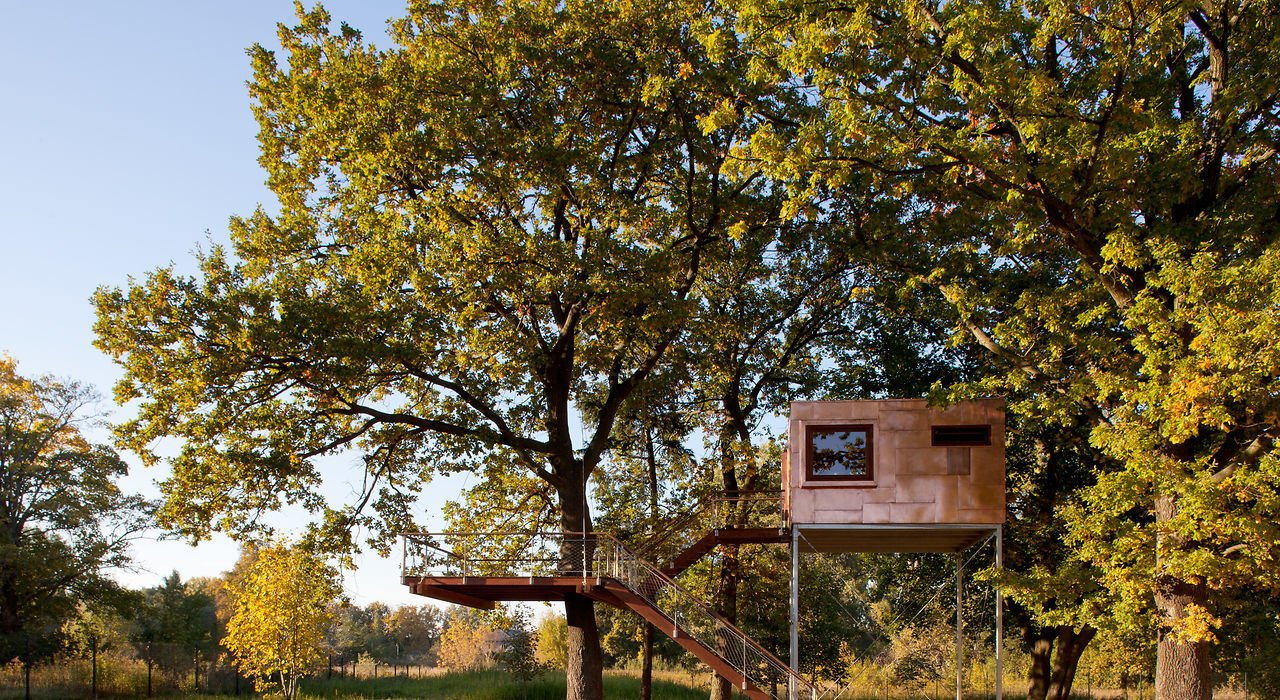 Copper Cube tree house