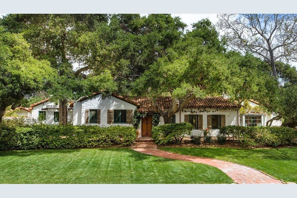 The Spanish Colonial Revival style is recognizable from this home's smooth stucco exterior, clay tiled roof, and other natural accents.  Photo 1 of 10 in Actor Jeff Bridges Lists His Spanish Colonial Revival Abode For $8M