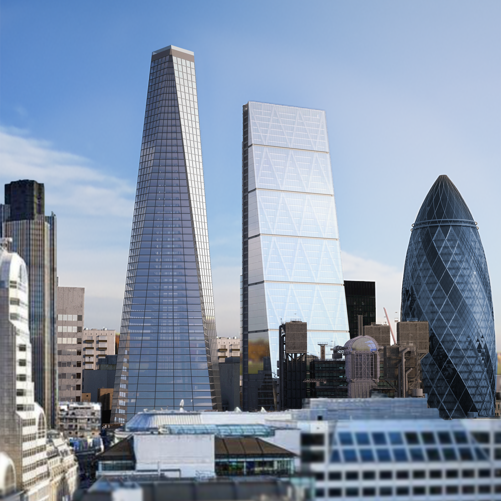 Compass Pools's proposal for Infinity London includes a five-star hotel on the top floors, and a thrilling, 360-degree infinity pool 55 stories up.  Photo 1 of 4 in The World's First 360-Degree Infinity Pool Is Proposed to Tower Above London