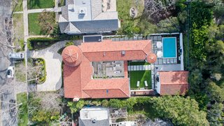 An aerial view of the home.