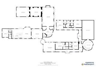 The home's floor plan.