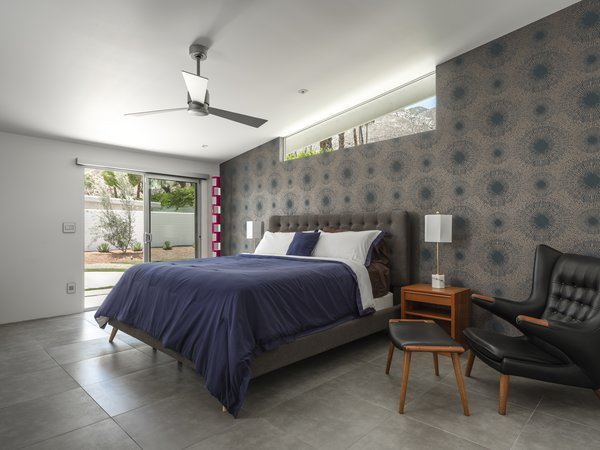 A peek inside the master suite, which has its own entrance to the landscaped backyard.