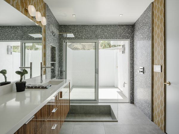 Here is the spacious master bath, complete with a large rain shower-head.