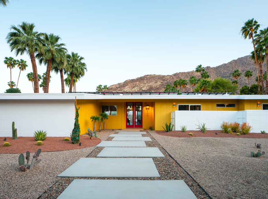 A yellow facade adds character and curb appeal.