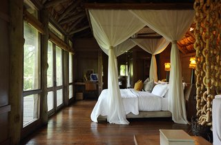 If you love glamping, &Beyond Lake Manyara Tree Lodge is the place for you. The property features beautiful safari-chic treehouses, butlers, game drives and sundowner service within Lake Manyara National Park.
