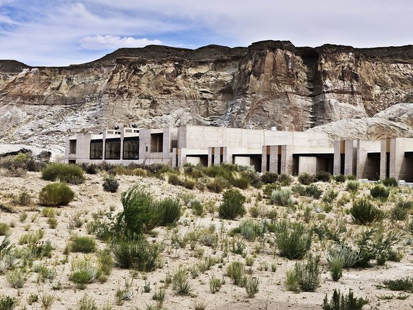 Amangiri is a modern luxury destination set on 600 acres within canyon country offering access to national parks and Lake Powell. The resort is a feat of architecture and is outfitted with a world-class spa.