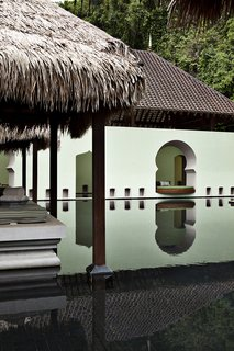 Uniquely located within a UNESCO World Geopark, the Four Seasons Langkawi is comprised of Malay-style pavilions and architecture surrounded by lush jungles and beaches. The property features excellent cuisine and spa services.